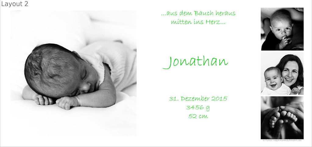 Baby Dankeskarten Geburt auf Fine Art Papier aus Baumwolle von rvk-fotografie.de in Hamburg